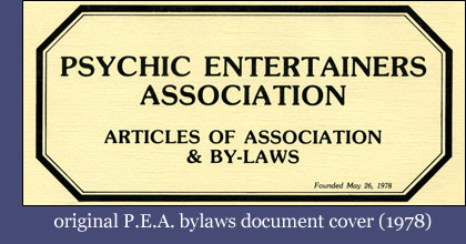 Original PEA Bylaws Document Cover (1978)